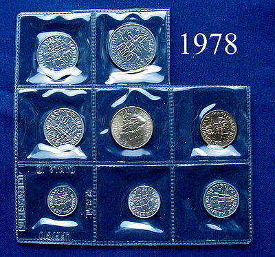 1978 SAN MARINO (Italy) complete set coins UNC without silver