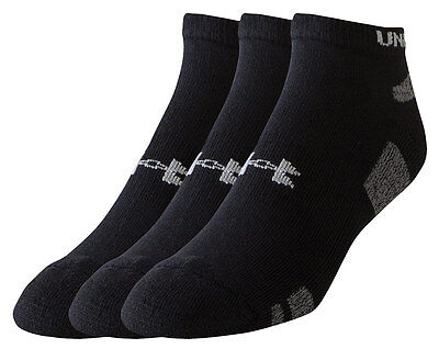 Under Armour Mens HeatGear No-Show Socks - Pack of 3 pairs