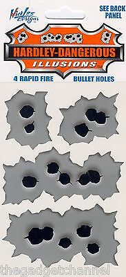 Machine Gun Rapid Fire Fake Bullet Hole Car Stickers Joke Funny Boys Toy Gift