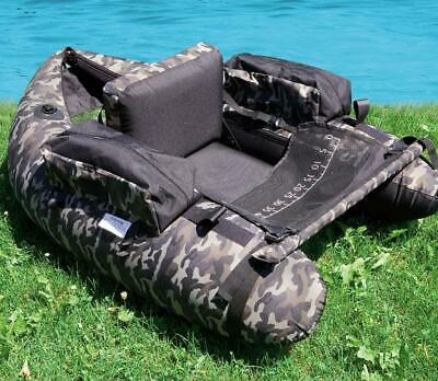 Lineaeffe Belly Boat Camou Camouflage Belly Boat Boot inkl. Pumpe -
