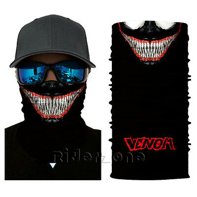 New CLOWN Tactical Skull Face Shield Sun Mask Balaclava Neck Gaiter Black