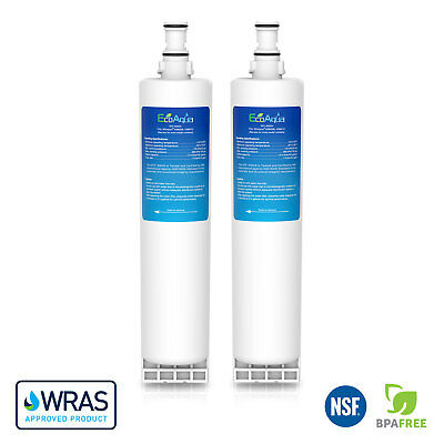 EcoAqua Compatible Whirlpool SBS002 Fridge Water Filter Cartridges - Pack of Two