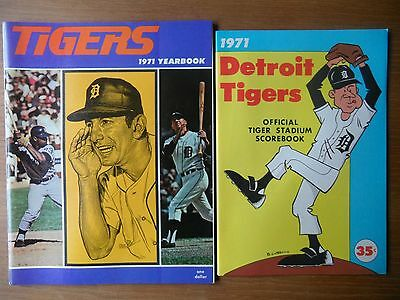 American Baseball DETROIT TIGERS 1971 Official Yearbook & Score book VGC USA