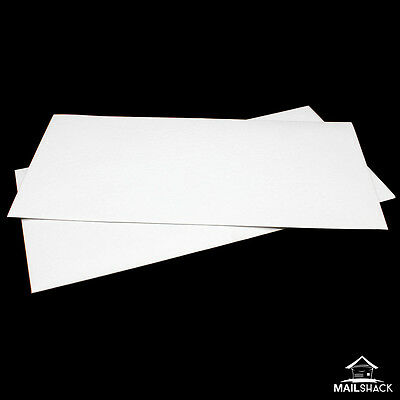 PREMIUM HAMMER WHITE Textured Envelopes Zeta DL (110 x 220mm) Invites Greetings