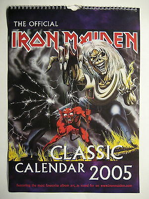 Iron Maiden Kalender Wall Calendar 2005 With Most Favourite Album Art