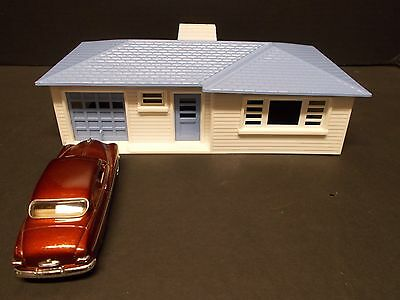 Vintage PLASTICVILLE  Ranch House in Blue and White w/o Box