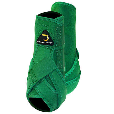 Medium Cactus Dynamic Edge Horse Front Leg Protection Sport Boots Pair Green