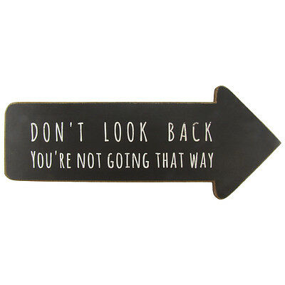 Don't Look Back Motivational/Inspirational Quote Wood Sign House&Home Wall Decor