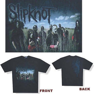 Slipknot Band In Field/blue Sky Black T-Shirt Small New Official