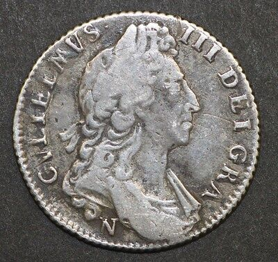 William III One Shilling 1967 Norwich Mint Silver Coin