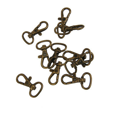10x Bronze Swivel Trigger Clips Lobster Clasp Snap Hook Key Ring Charms 33mm