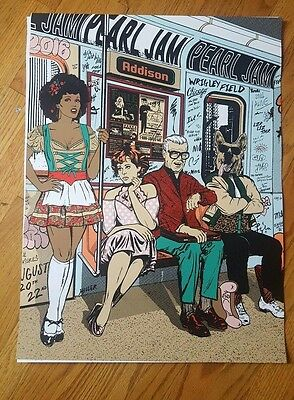 Pearl Jam Wrigley Field 2016 Official Show Poster Faile