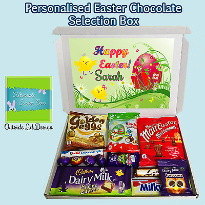 Personalised Any Name Easter Egg Chocolate Gift Hamper Selection Cadbury Galaxy