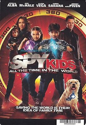 SPY KIDS ALL THE TIME IN THE WORLD Movie Placard from Video Rental Store