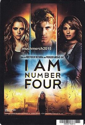 """I AM NUMBER FOUR Movie Placard from Video Rental Store 5.5"""" x 8"""""""