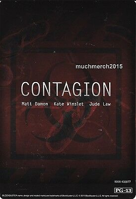 """CONTAGION Movie Placard from Video Rental Store 5.5"""" x 8"""""""