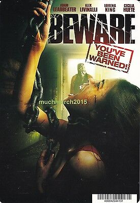 """BEWARE Movie Placard from Video Rental Store 5.5"""" x 8"""""""