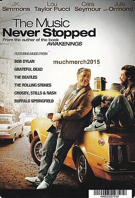 """THE MUSIC NEVER STOPPED Movie Placard from Video Rental Store 5.5"""" x 8"""""""