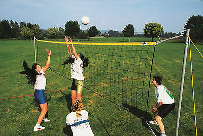 Volleyball set complete with posts, net and court markings 9m x 18m