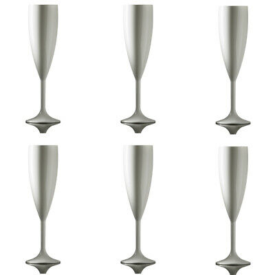 Elite Premium Champagne Flutes 200ml White - Pack of 6
