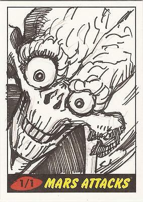 Mars Attacks Heritage - Unknown Artist Sketch Card
