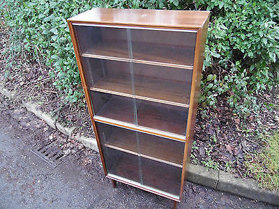Minty of Oxford bookcase. Tall 5ft mid century furniture.
