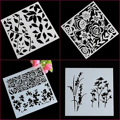 Decorating Wedding Cake Mold Fondant Stencil Flower Pattern Cookie Mould