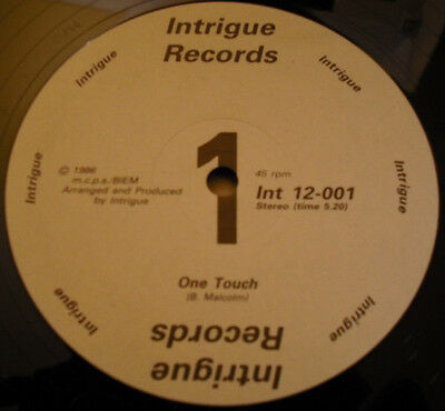 "Intrigue ‎– One Touch 12"" vinyl NM (rare)"