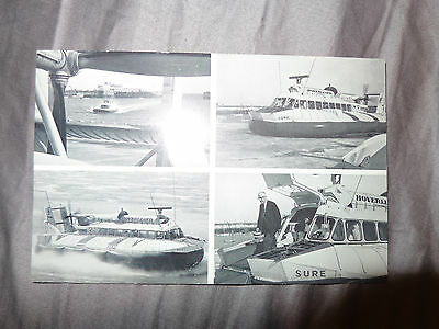 Hoverlloyd Postcard 2P Westland Sr.n6 Hovercraft  Ramsgate To Calais Service