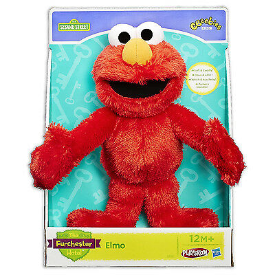 "Elmo Furchester Hotel Plush Cuddle 11""/28cm CBeebies Playskool Hasbro Toy Doll"