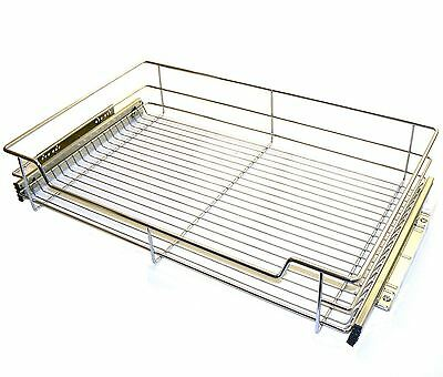 Pull out Wire Basket Chrome Kitchen - Bedroom Drawer Storage ALL SIZES