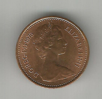 1975 Uk Half New Penny Coin Bright Circulated Condition,decimal 1/2P