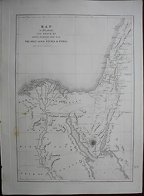 DAVID ROBERTS 1844 1st Folio H/C Large Litho MAP OF HOLY LAND PETRA SYRIA