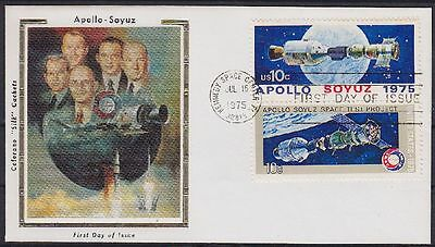 USA FDC 1179 - 1180, gest. Kennedy Space Center 1975, Apollo, first day cover