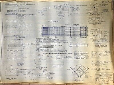 1964 Shea Stadium Ny Mets Sections & Infield Details T-8 Blueprint, Flushing