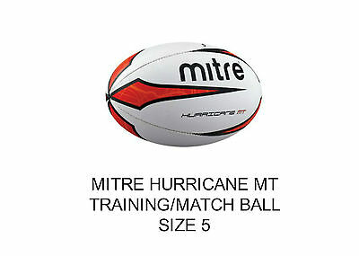 Mitre Hurricane MT Rugby Ball, Size 5 rugby training / match ball..red/white