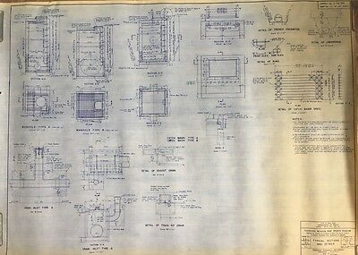 1964 Shea Stadium, Ny Mets, Typical Sections & Details T-9 Blueprint, Flushing