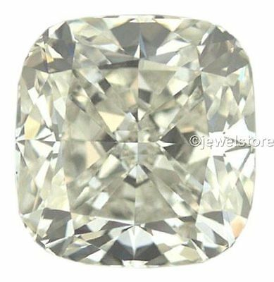 Fiery cushion cut off white color 2.51 ct Loose moissanite VS1 8.21 mm GEM EDH