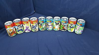 Lot 10 Different Dydo Dragonball Zero Cider Cola Cans Full Unopened US Seller