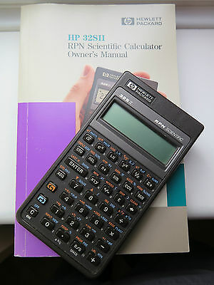 Hewlett Packard 32SII RPN Scientific Calculator with Owner's Manual