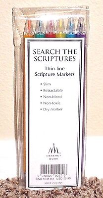 Search the Scriptures Thin Line Scripture Markers 6 Pack LDS MORMON