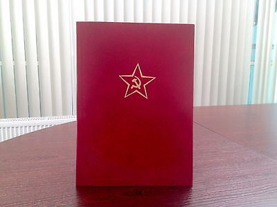 Old Soviet Russian Military Folder for Documents and Taking the Oath USSR