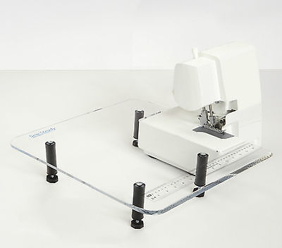 """Sew Steady Table - Singer 221 Featherweight *WHITE* -  18""""x18"""" Extension Table"""