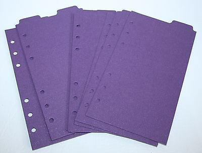 9 Shimmery Plum Filofax Personal Kate Spade size dividers subject top tab