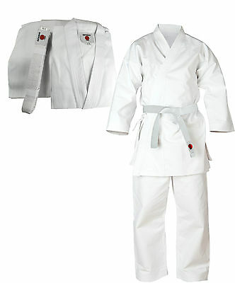 Senshi Japan Cotton Karate Suit Martial Arts Uniform Aikido Student White Gi NEW