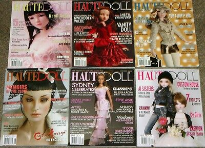 Haute Doll Magazine Lot of 6 from 2006