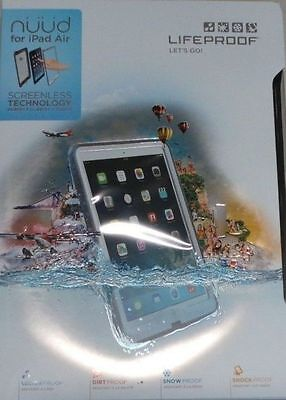 LifeProof Nuud Series Case for Apple iPad Air 1st Gen. White/Gray, 1901-02