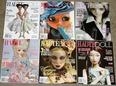 Haute Doll Magazine Lot of 6 from 2007