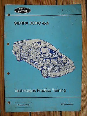 Ford Sierra Dohc 4 X 4 Manual Brochure Rs 1989 Rs Cosworth