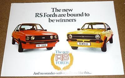 FORD ESCORT Mk 2 RS MEXICO RS2000  BROCHURE RS1800 1600